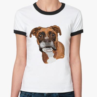Женская футболка Ringer-T Пёс