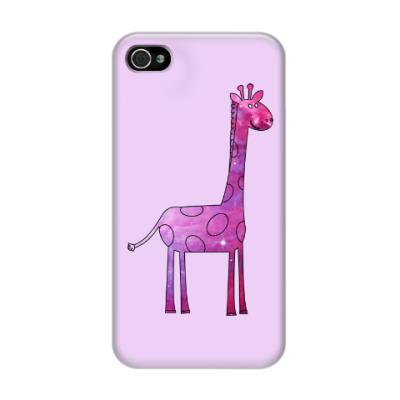 Чехол для iPhone 4/4s Космический Жираф
