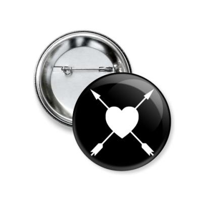 Значок 37мм 'Love'