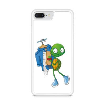 Чехол для iPhone Чистюля Черепашонок с щеткой