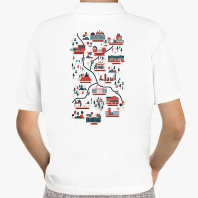 Детская рубашка поло Карта сериала Ходячие мертвецы