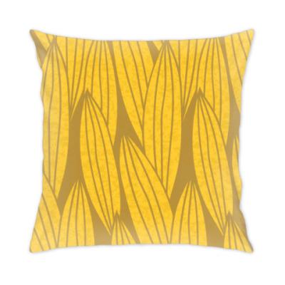 Подушка Золотые листья