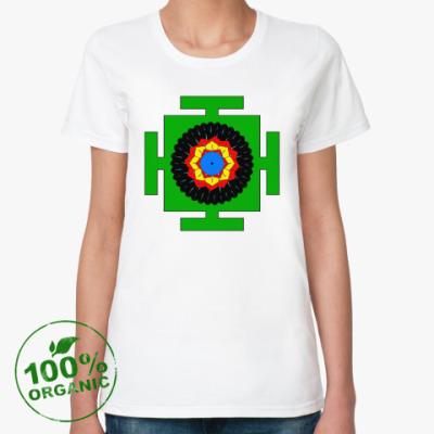 Женская футболка из органик-хлопка Вишну-янтра
