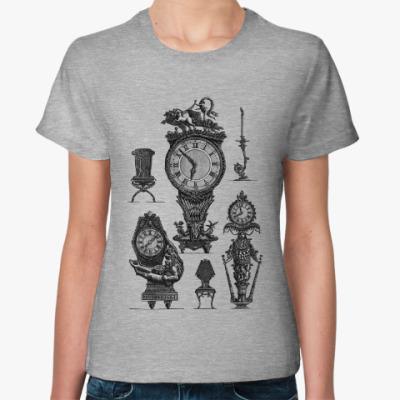 Женская футболка Часы