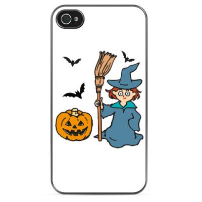 Чехол для iPhone Ведьмочка на Хэллоуин