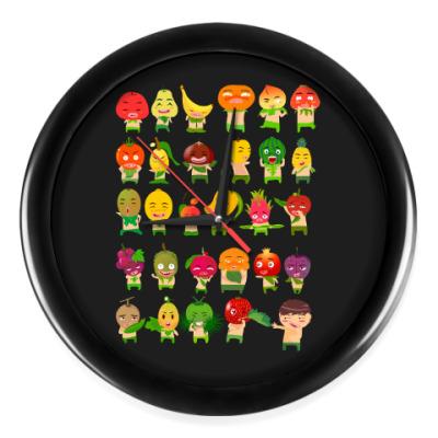 Настенные часы Фрукты, Овощи и Ягоды