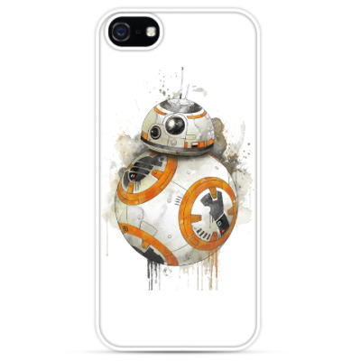 Чехол для iPhone Star Wars BB-8 Droid акварель