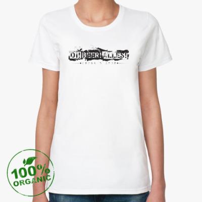 Женская футболка из органик-хлопка ОВА снова в деле