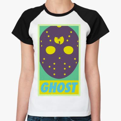 Женская футболка реглан  Ghost Wu tang