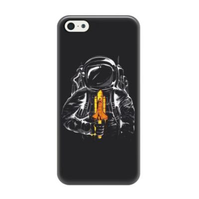 Чехол для iPhone 5/5s Космонавт с леденцом