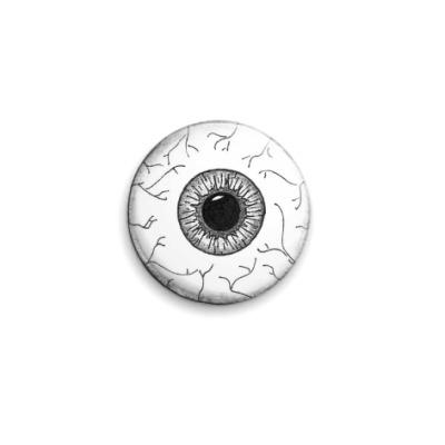 Значок 25мм Черно-белый глаз