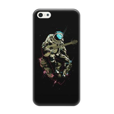 Чехол для iPhone 5/5s Космонавт с гитарой