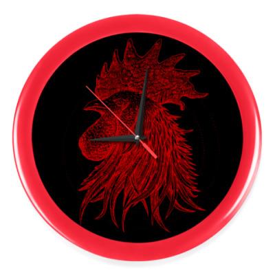 Настенные часы Красный петух символ Года