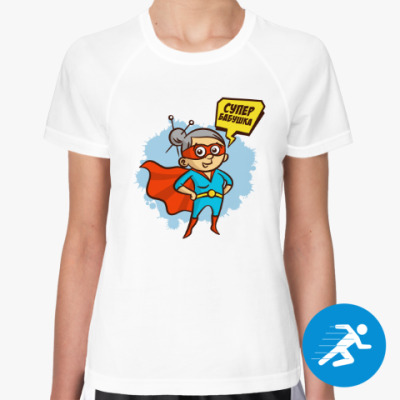 Женская спортивная футболка СУПЕР БАБУШКА