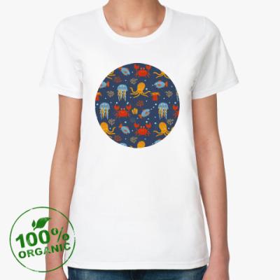 Женская футболка из органик-хлопка Under the sea