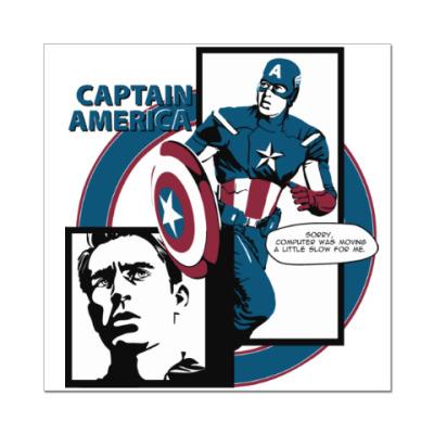 Наклейка (стикер) Капитан Америка