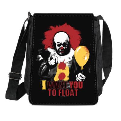 Сумка-планшет Clown It by Stephen King