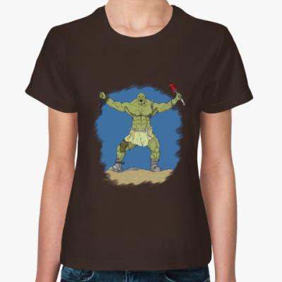 Женская футболка супермутант