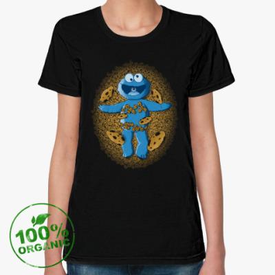 Женская футболка из органик-хлопка Коржик Красота по Сезамски