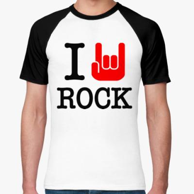 Футболка реглан I Love Rock