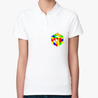 Женская рубашка поло Кубик Рубика