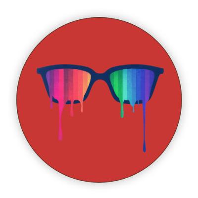 Костер (подставка под кружку) Хипстер: очки