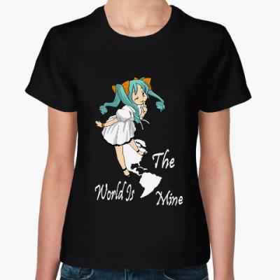 Женская футболка Мир мой