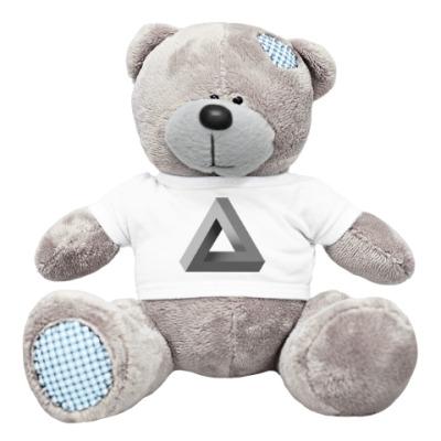Плюшевый мишка Тедди Невозможный Треугольник 3D