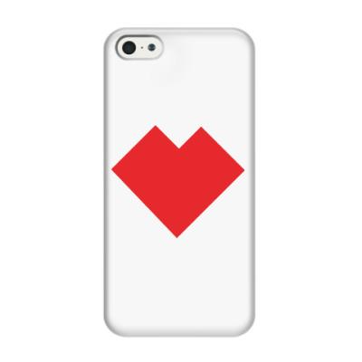 Чехол для iPhone 5/5s Сердце танграм