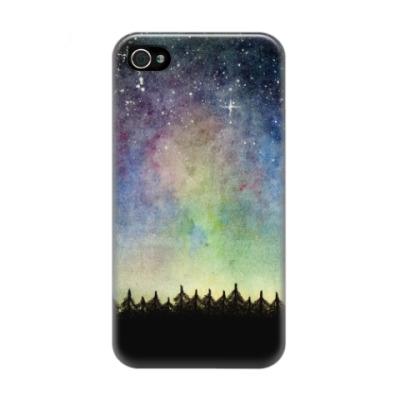 Чехол для iPhone 4/4s Космическое звездное небо