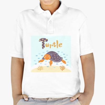 Детская рубашка поло Черепаха