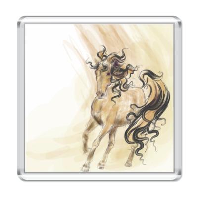 Магнит Акварельная лошадь