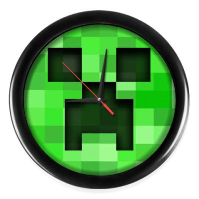 Настенные часы Minecraft Creeper
