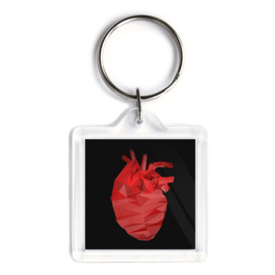 Брелок Сердце 3D