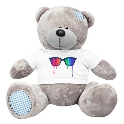 Плюшевый мишка Тедди Хипстер: очки