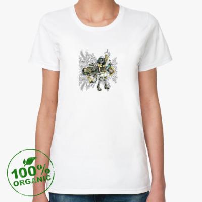 Женская футболка из органик-хлопка Стреляй