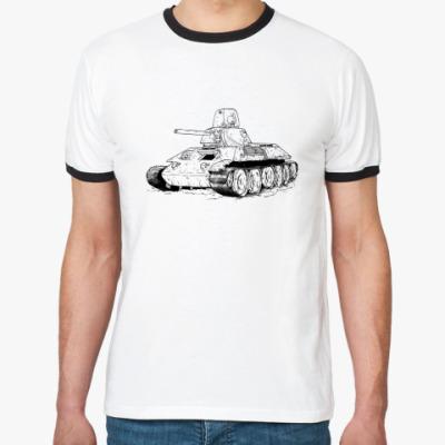 Футболка Ringer-T  Танк Т-34