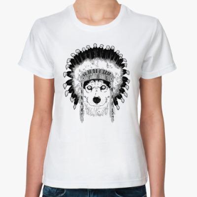 Классическая футболка Хаски вождь