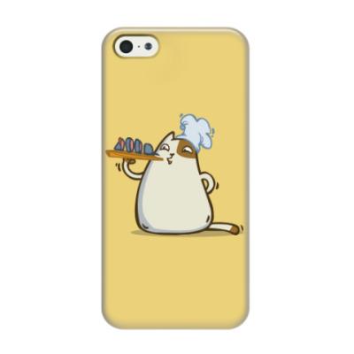 Чехол для iPhone 5/5s Пятничный Котик №25