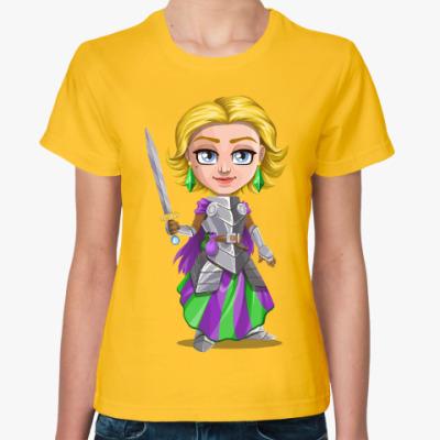 Женская футболка Воительница