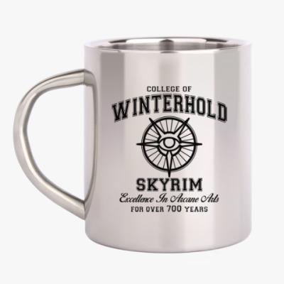 Кружка металлическая Skyrim . College of Winterhold