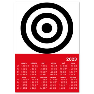 Календарь  A4~Мишень~11 (кр.)