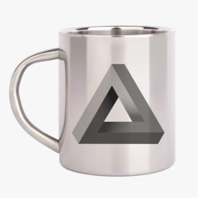 Кружка металлическая Невозможный Треугольник 3D