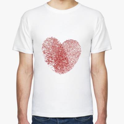 Футболка Сердце из отпечатков пальцев