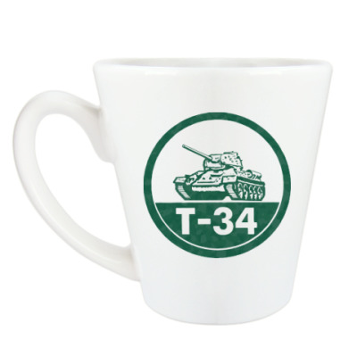 Чашка Латте Танк Т-34