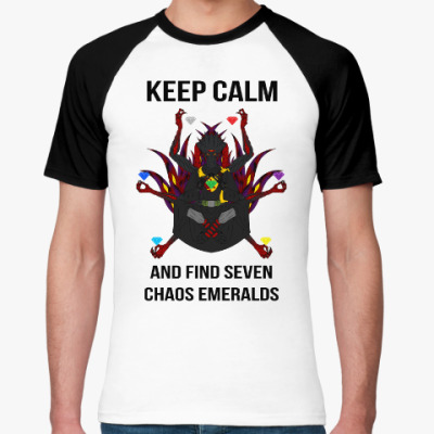 Футболка реглан Keep calm and find seven chaos emeralds