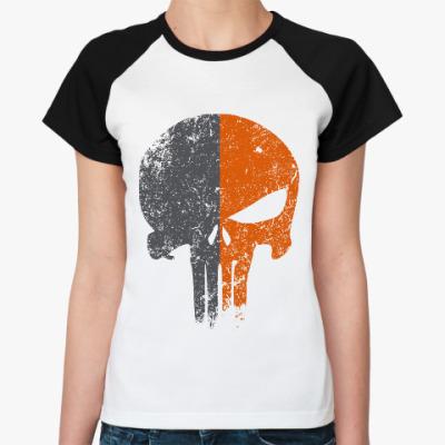 Женская футболка реглан Punisher