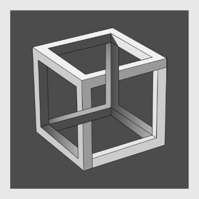 Постер Невозможный Куб 3D