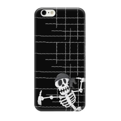 Чехол для iPhone 6/6s Скелет пирата