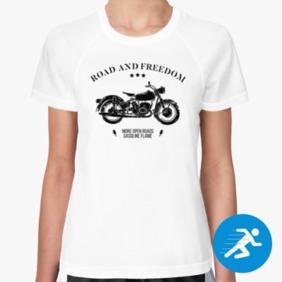 Женская спортивная футболка Король дорог (мотоцикл)